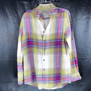 EUC - The Shirt By Joe Jeans in lovely Plaid Sz XS
